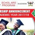 scholarships for ugandan students 2017