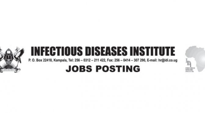 Infectious Diseases Institute Jobs 2020 IDI Uganda Jobs 2020 Infectious Diseases Institute Jobs IDI Uganda Jobs 2019 Infectious Diseases Institute Jobs 2019