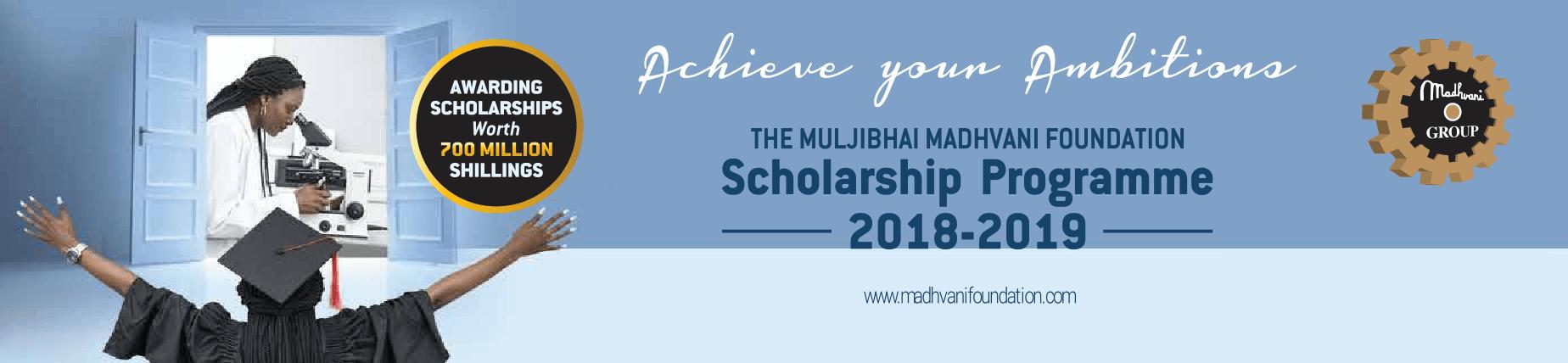 Madhvani Foundation Scholarship Programme 2018/2019