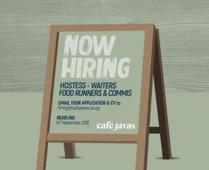 Cafe Javas Uganda Jobs 2018