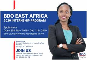 2020 BDO Uganda Graduate Program